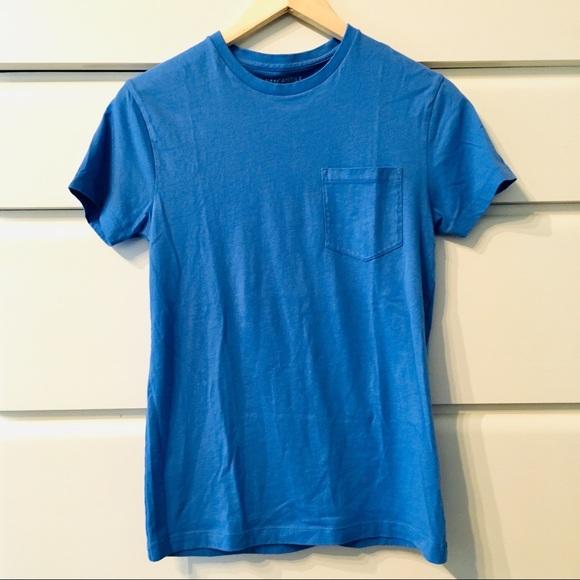 17d5e27b0 🎒 J Crew Indigo Crew Neck Pocket T Shirt
